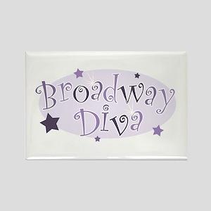"""Broadway Diva"" [purple] Rectangle Magnet"